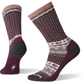 Smartwool Cozy Cabin Crew Socks Women bordeaux